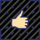 encourage, feedback, gesture, hand, inspiration, motivation icon