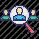 hiring, hr, human resource, magnifier, recruitment