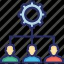 cogwheel, lead management, management, people hierarchy, preferences