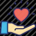 care, courtesy, empathy, heart, kindness icon