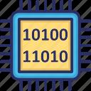 binary, computation, computer chip, integrated circuit, processor chip