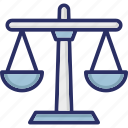 balance, legal, scaling, law, justice scale icon