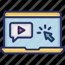 lecture, media, multimedia, video tutorials, tutorials icon