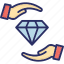 ability, capability, competence, diamond, expertise icon