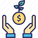 advantage, benefit, dollar, earning, profit