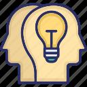 bulb, develope idea, idea, shared vision, vision