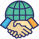 global collaboration, partnership, collaboration, multinational, worldwide icon