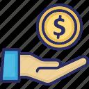 dollar, economy, finance, hand, investment