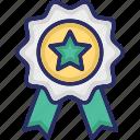 award, badge, merit, recommendation, star icon