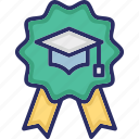 ability, badge, capability, mastery, mortarboard