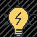 business, idea, innovation, light bulb, marketing, startup, success icon