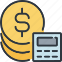 business, calculator, finance, marketing, money, success icon