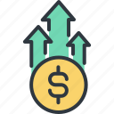 business, grown up, inance, investment, marketing, money, success icon