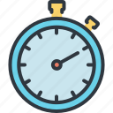 business, goal, marketing, planning, startup, stop watch, success icon