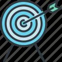 arrow, business, goal, innovation, marketing, success, target icon