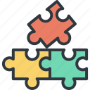 business, development, jigsaw, joint, marketing, success, team work icon