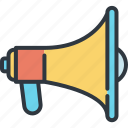 advertising, business, development, launch, marketing, megaphone, success icon
