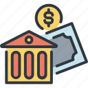 bank, business, finance, investment, marketing, money, success icon