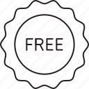 free, sticker, tag