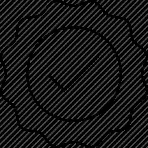 complete, ok, sticker icon