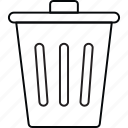 basket, delete, recyclebin icon