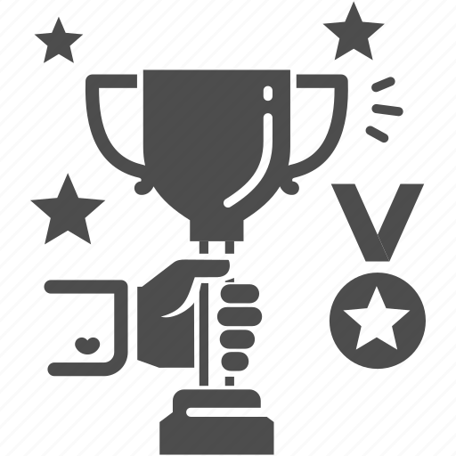 hand, trophy, winner icon