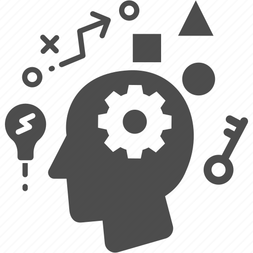 head, key, solution icon