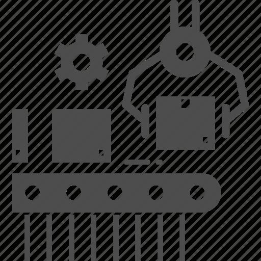 machine, product, production, robot icon