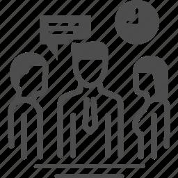 lead, meeting, team, teamwork icon