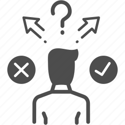 business, decision, direction, question icon