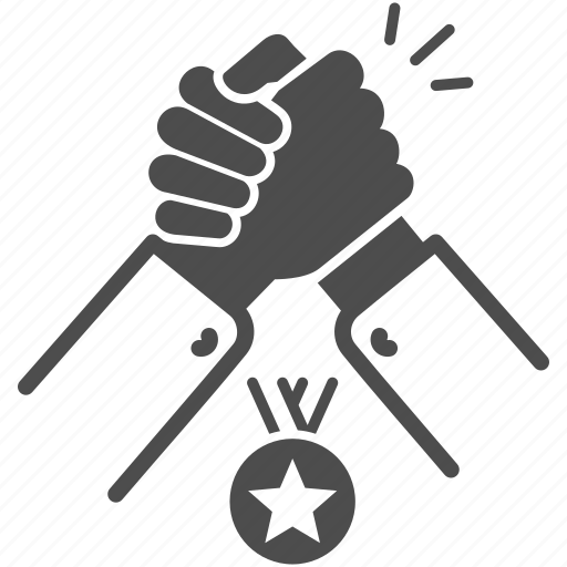 competition, competitor, hand, help, partnership, strength icon