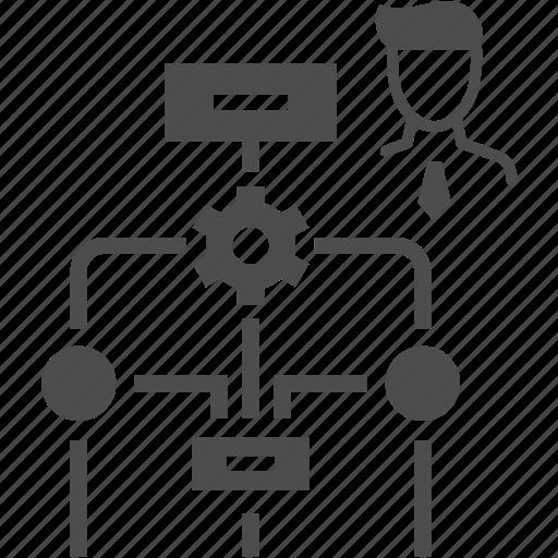 business, man, plane, workflow icon