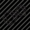 cog, cogwheel, configuration, gear, processing, setting, setup