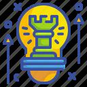 creative, idea, innovation, new, strategy icon