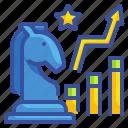 benefits, development, growth, statistics, strategy icon