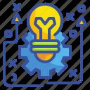 creativity, idea, innovation, process, technology icon