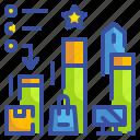 business, marketing, metrics, objective, statistics icon