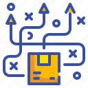 delivery, distributed, logistic, product, shipping icon