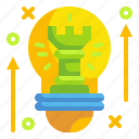 creative, idea, innovation, new, strategy icon