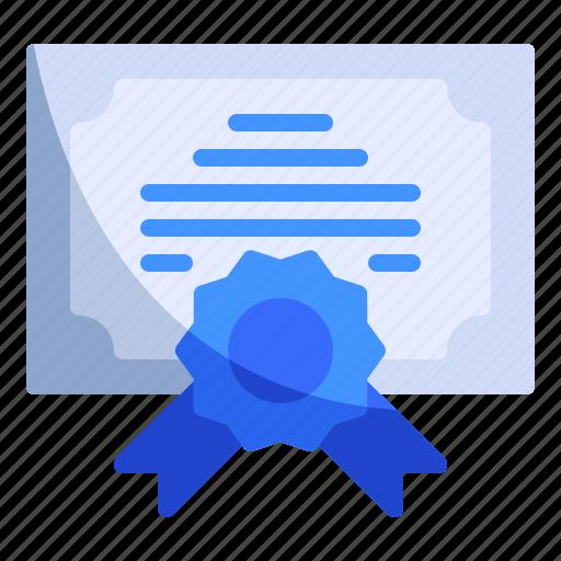 certificate, degree, license icon