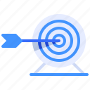 arrow, business, finance, goal, strategy, streamline, target icon