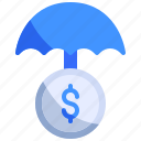 assurance, business, finance, insurance, protection, strategy, umbrella icon