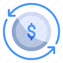billing, business, finance, loop, money, repeat, strategy icon