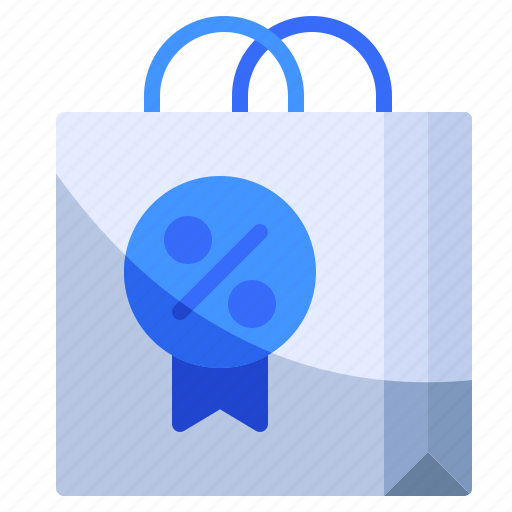 discount, ecommerce, shopping bag icon