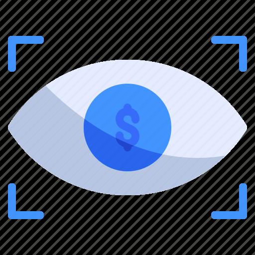 eye, finance, focus icon