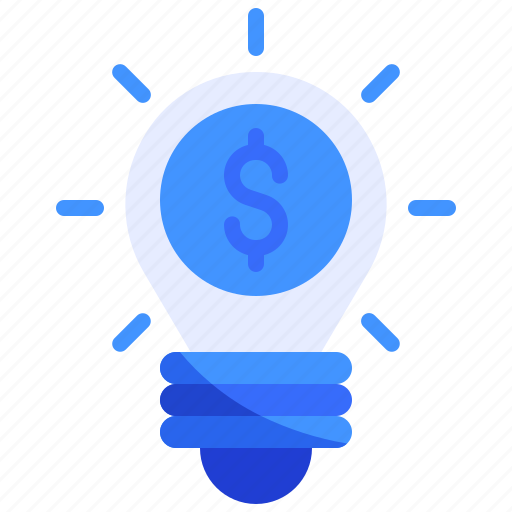 bulb, finance, lamp icon