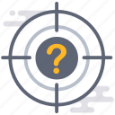aim, business, find, problem, question, spot, target icon