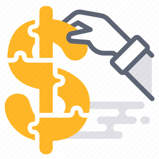 assistant, business, consult, finance, financial, jigsaw, money icon