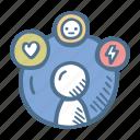 business, customer, experience, feedback, finance icon