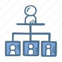 business, finance, hierarchy icon
